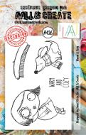 Warm and Cosy (No. 426) A7 sized stamp by Janet Klein for Aall and Create (AAL00426)