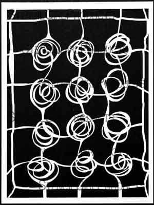 Web of Roses by Mary Beth Shaw for StencilGirl