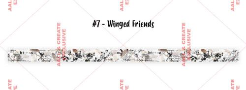 Winged Friends (no. 7) 20mm thick washi tape by Tracy Evans for Aall and Create (AALWT007)