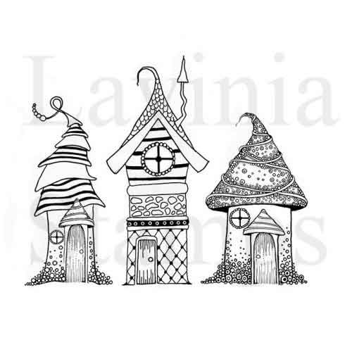 Zen Houses Lavinia Stamps (LAV326)