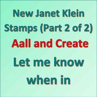 Janet Klein Stamps Part 2 Notification Aall and Create