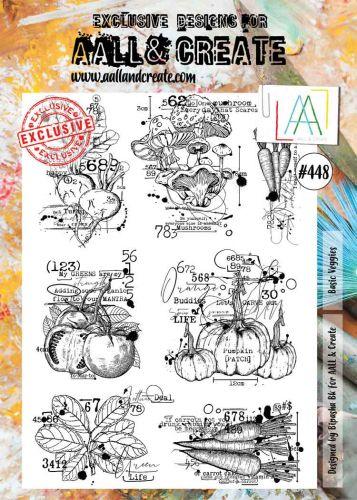 Basic Veggies by Bipasha BK Aall and Create A4 stamp (AAL00448)