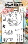 Curly Girl by Janet Klein Aall and Create A7 stamp (AAL00480)