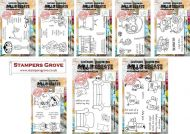 Janet Klein February 2021 8 Stamp Bundle A6: 461,464; A7: 472,474,475,476,480,488