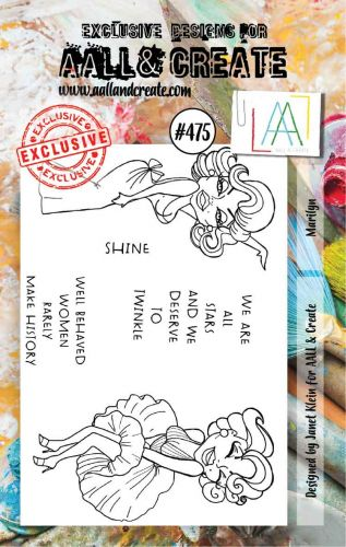 PRE-ORDER EXPECTED APPROX 2 MARCH Marilyn by Janet Klein Aall and Create A7 stamp (AAL00475)