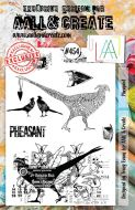 Pheasant (no. 454) by Tracy Evans Aall and Create A5 stamp (AAL00454)