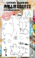 Quirky Friends (no. 466) by Tracy Evans Aall and Create A6 stamp (AAL00466)