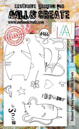 PRE-ORDER EXPECTED 12 MARCH Quirky Friends by Tracy Evans Aall and Create A6 stamp (AAL00466)