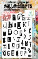 Snippet Alphabet (no 456) by Tracy Evans Aall and Create A5 stamp (AAL00456)