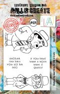 Stan and Ollie (no. 474) by Janet Klein Aall and Create A7 stamp (AAL00474)