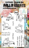 Strange Birds (no. 464) by Janet Klein Aall and Create A6 stamp (AAL00464)