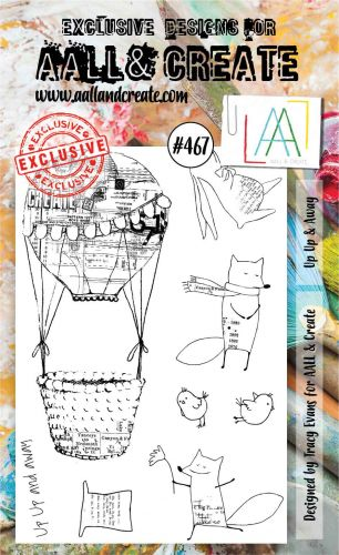 PRE-ORDER EXPECTED 12 March Up Up and Away by Tracy Evans Aall and Create A6 stamp (AAL00467)