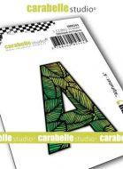 Alphabet Stamp Carabelle Studio Letter A Cling White Rubber 5cm (SMI0243)