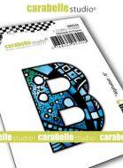 Alphabet Stamp Carabelle Studio Letter B Cling White Rubber 5cm (SMI0244)