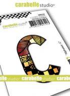 Alphabet Stamp Carabelle Studio Letter C Cling White Rubber 5cm (SMI0245)