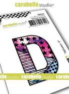 Alphabet Stamp Carabelle Studio Letter D Cling White Rubber 5cm (SMI0246)