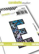 Alphabet Stamp Carabelle Studio Letter E Cling White Rubber 5cm (SMI0247)