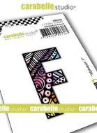 Alphabet Stamp Carabelle Studio Letter F Cling White Rubber 5cm (SMI0248)