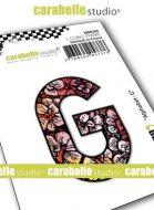 Alphabet Stamp Carabelle Studio Letter G Cling White Rubber 5cm (SMI0249)