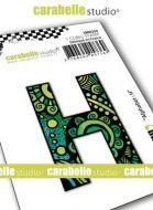 Alphabet Stamp Carabelle Studio Letter H Cling White Rubber 5cm (SMI0250)
