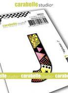 Alphabet Stamp Carabelle Studio Letter J Cling White Rubber 5cm (SMI0252)