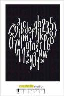 Carabelle Studio - Stencil A6 - Alphabetical heart (TE60057)