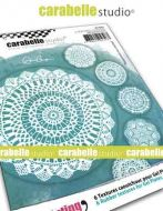 Crochet Doilies Textured Coasters for Carabelle Studio by Alexi (apc0003_r)