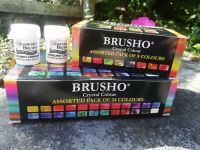 Brushos (34 x 15g pots - i.e. All of the Brusho colours)