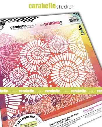 Carabelle Studio - Art Printing Square 6 inch - Fantaisie spirale by Azoline (APCA60045)