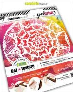 Carabelle Studio - Kit Gel Plate 6 inch round and Texture art printing plate - Disque aux papillons by Alexi (APK6R0001)