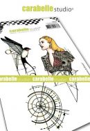 Carabelle Studio - Cling Stamp A6 - Etude no. 1 - Femme & Oiseau (SA60493)