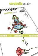 Carabelle Studio - Cling Stamp A6 - Jeune fille aux fleurs by Soizic (SA60492)