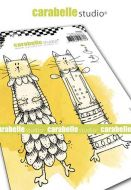 Carabelle Studio - Cling Stamp A6 - Kooky Cats by Kate Crane (SA60481)