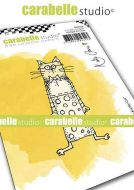 Carabelle Studio - Cling Stamp A7 - Little Kooky Cat by Kate Crane (SA70158)