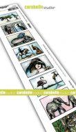 Carabelle Studio - Cling Stamp Edge - 8 labels - Des hommes et des animaux (SED0039)