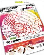 Carabelle Studio - Kit Gel Plate 6 inch round and Texture art printing plate - La nature se dessine by Alexi (APK6R0002)