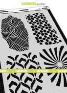 Carabelle Studio - Stencil A4 - Textures no. 2 - 4 Background Textures (TE40114)