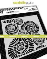 Carabelle Studio - Stencil square 6 inch - Fantaisie by Azoline (TECA60004)