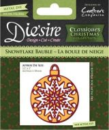 Crafters Companion Die'sire Die - Snowflake Bauble - DS-CX-BAUSN