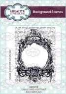 Christmas Portrait Background Cling Rubber Stamps by Creative Expressions (UMS819)