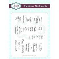 Fabulous Sentiments Clear Stamp Set - CEC725