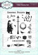 Festive Traditions - Carol Singers Clear Stamp Set - CEC867