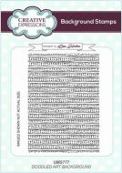 Doodled Art Background Cling Rubber Stamps by Lisa Horton - Creative Expressions (UMS777)
