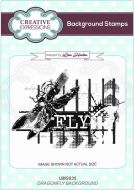 Dragonfly Background Cling Rubber Stamps by Lisa Horton - Creative Expressions (UMS835)