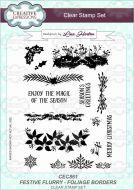 Festive Flurry - Foilage Borders Clear Stamp Set by Lisa Horton - CEC861