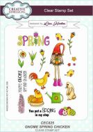 Gnome Spring Chicken Clear Stamp Set by Lisa Horton - CEC825