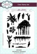 Tropical Grunge Clear Stamp Set by Lisa Horton - CEC848