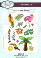 Tropical Island Clear Stamp Set by Lisa Horton - CEC845