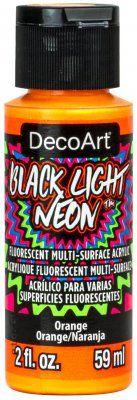 Orange Black Light Neon by Deco Art 59ml (CLDABLN02-2OZ)