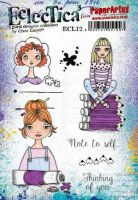 Clare Lloyd Eclectica ECL12 Paperartsy a5 cling rubber stamp set